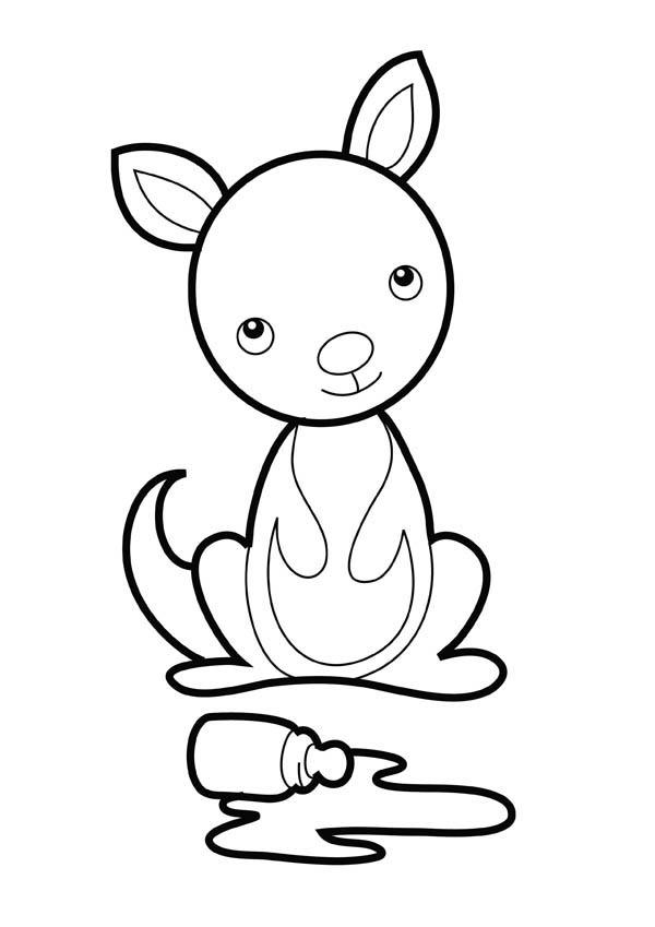 kangaroo coloring page here home kangaroo baby kangaroo coloring page
