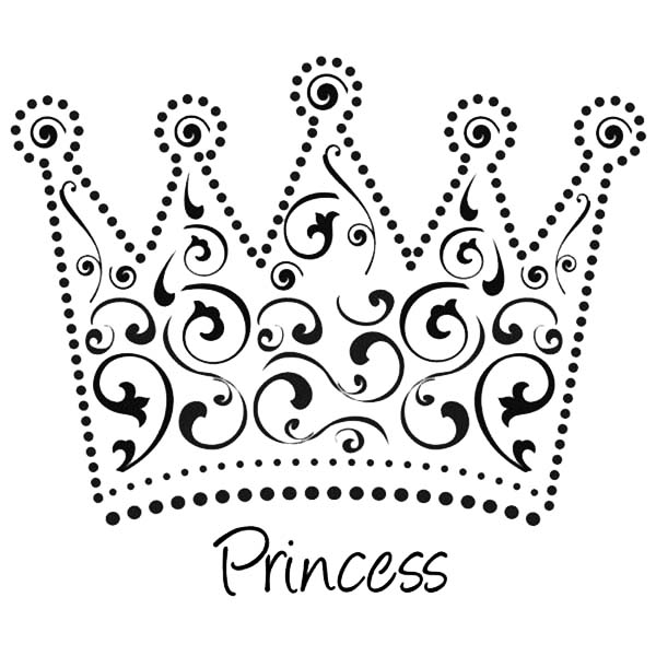 This is a picture of Crown Coloring Pages Printable in queen