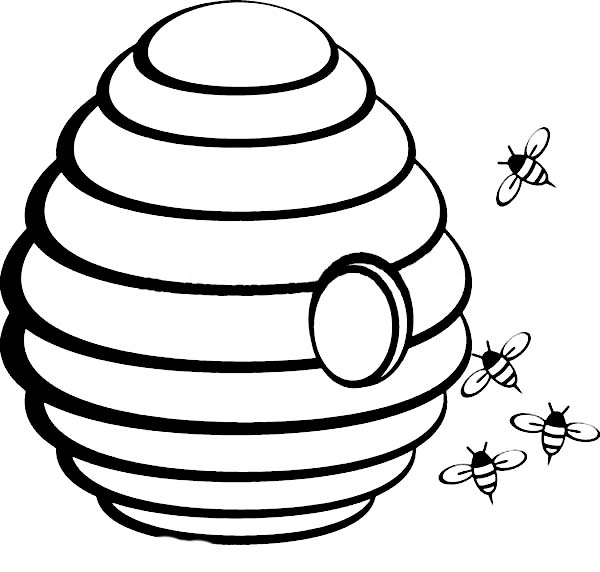 beehive coloring page the middle coloring page