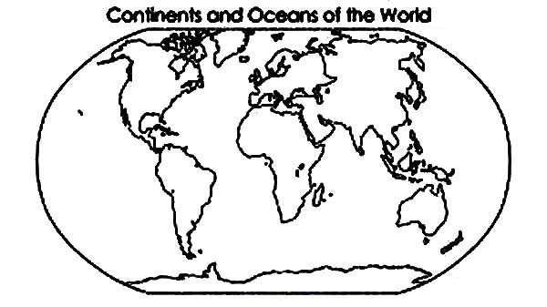 continent and oceans in page