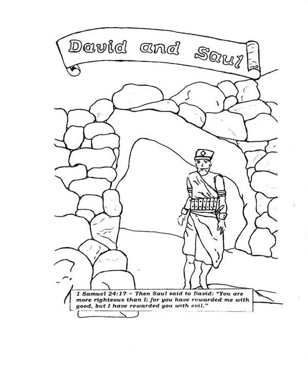 david and saul in the story of king saul coloring page netart