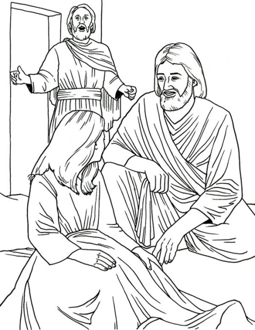 Heals Jairus Daughter In Miracles Of Coloring Page