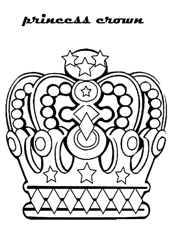 princess crown in noble family coloring page netart