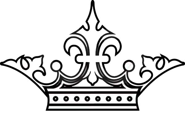 royal princess crown picture coloring page  netart