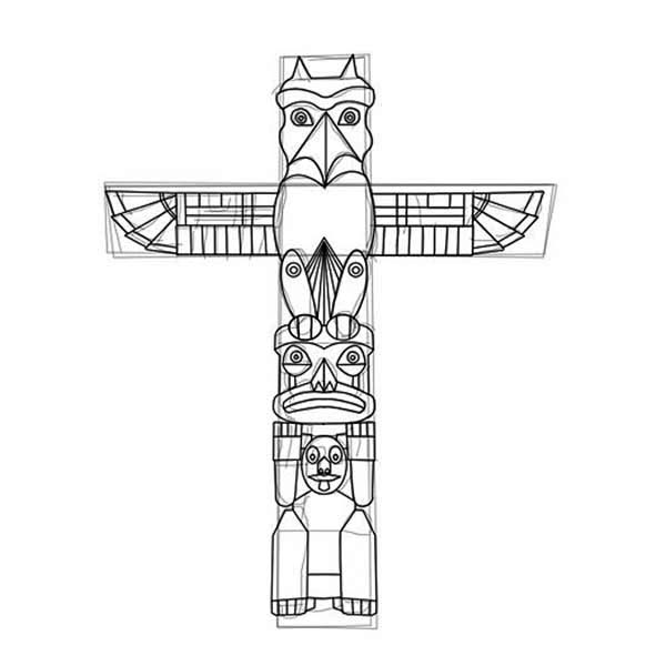 how to carved a totem poles coloring page netart