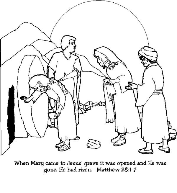 Home Jesus Resurrection In Matthew Coloring Page