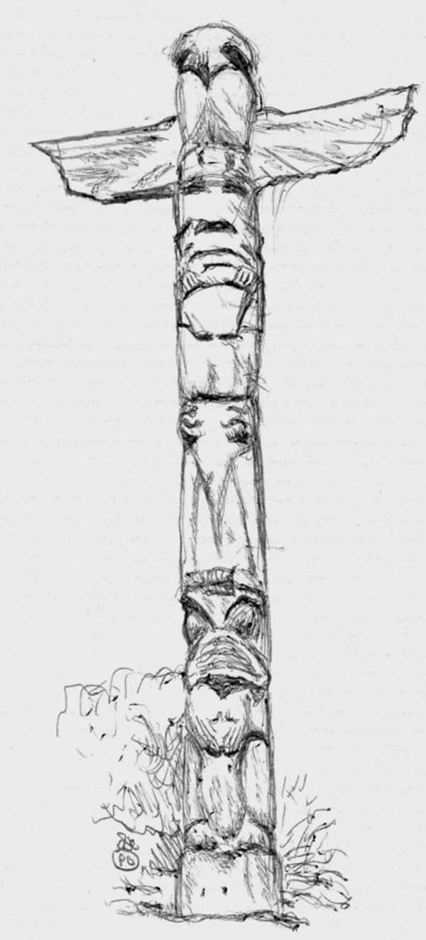 Free Printable Totem Pole Coloring Pages For Kids | 1322x600