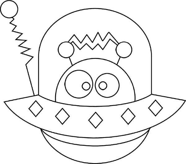 alien hide in spaceship coloring page netart