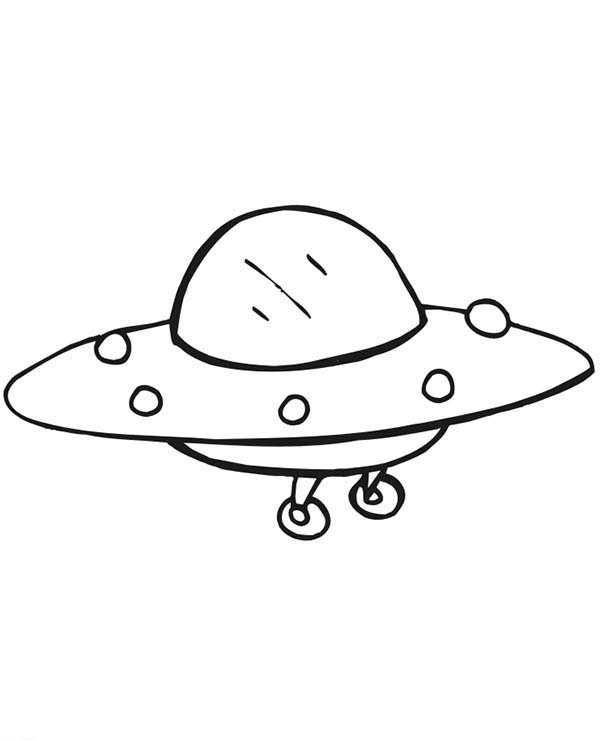alien spaceship coloring page netart
