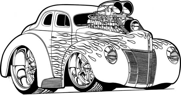 page here home hot wheels hot wheels super car with nos coloring page