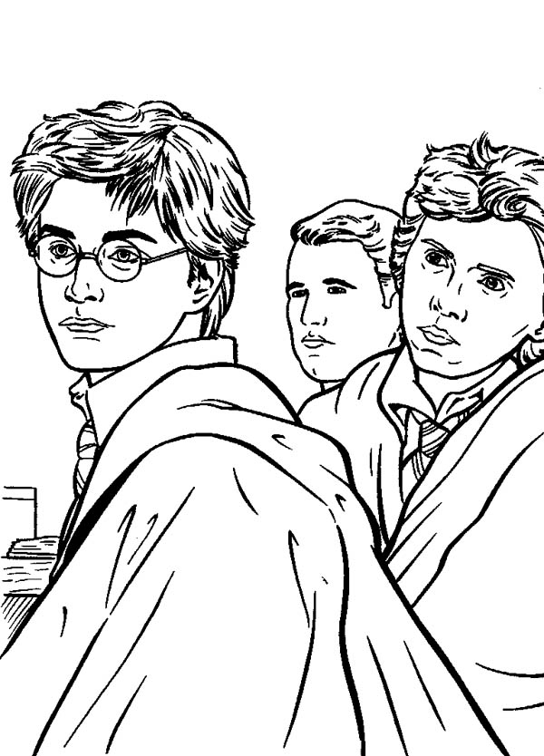 Kids Drawing Of Harry Potter Coloring Page NetArt