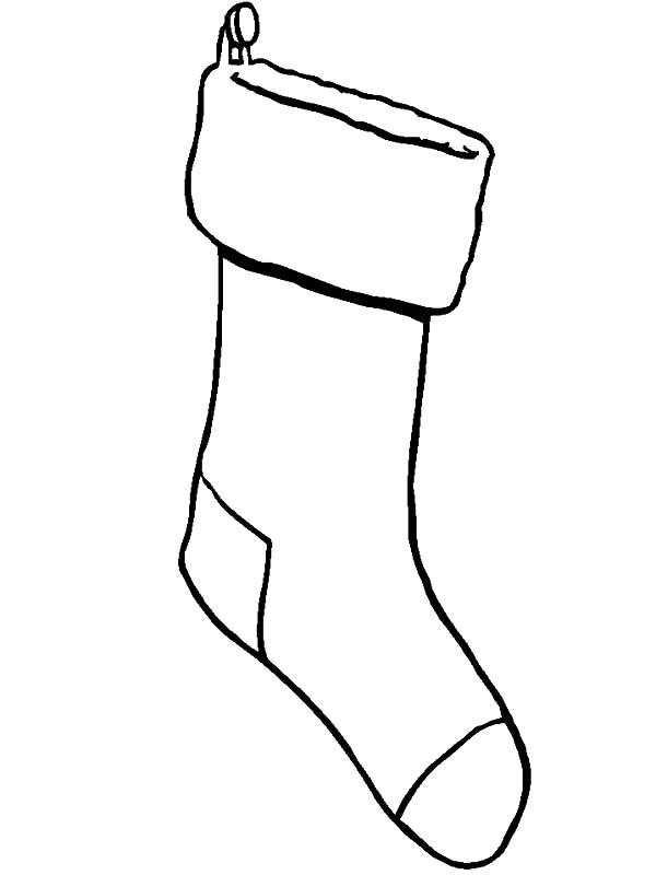 hanging christmas stockings coloring pages netart