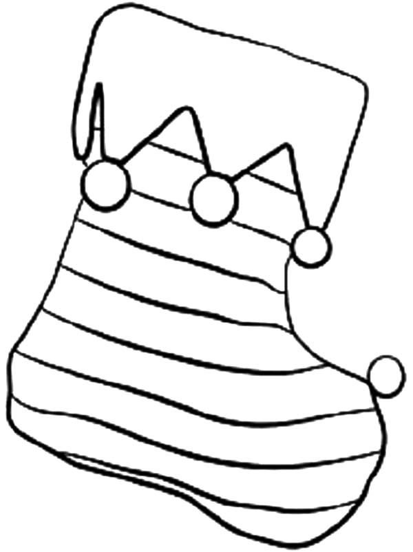 stripe christmas stockings coloring pages netart