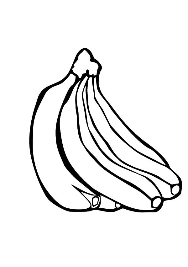 banana bunch for banana split coloring pages