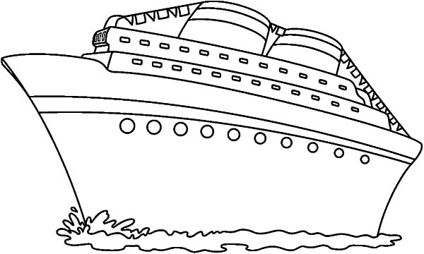 Cruise Ship Coloring Pages Sailing Ship Clip Art Black And White