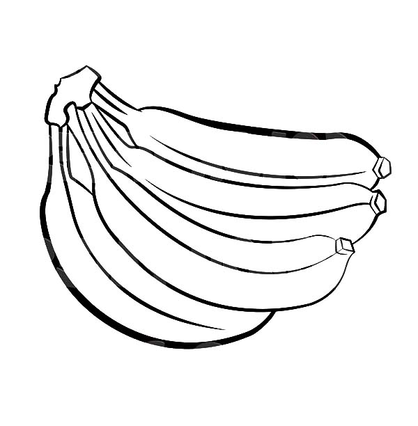 big three bananas coloring pages is part of fruit coloring pages