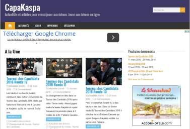 CapaKaspa : actualités des échecs, apprendre à jouer aux échecs