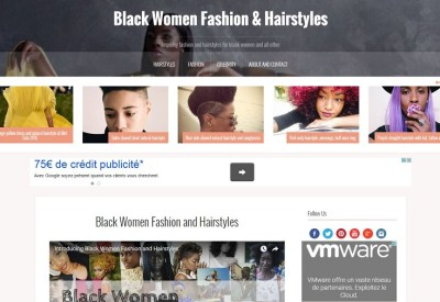Black Women Fashion and Hairstyles Site Internet capture