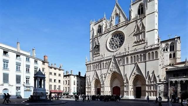 La cathédrale Saint-Jean dans le Vieux Lyon