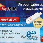 fastSIM: D-Netz Flatrates ab 7.95 Euro