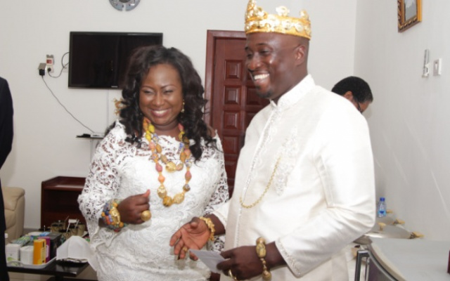 Gifty Anti welcomes first child, a baby girl at 47