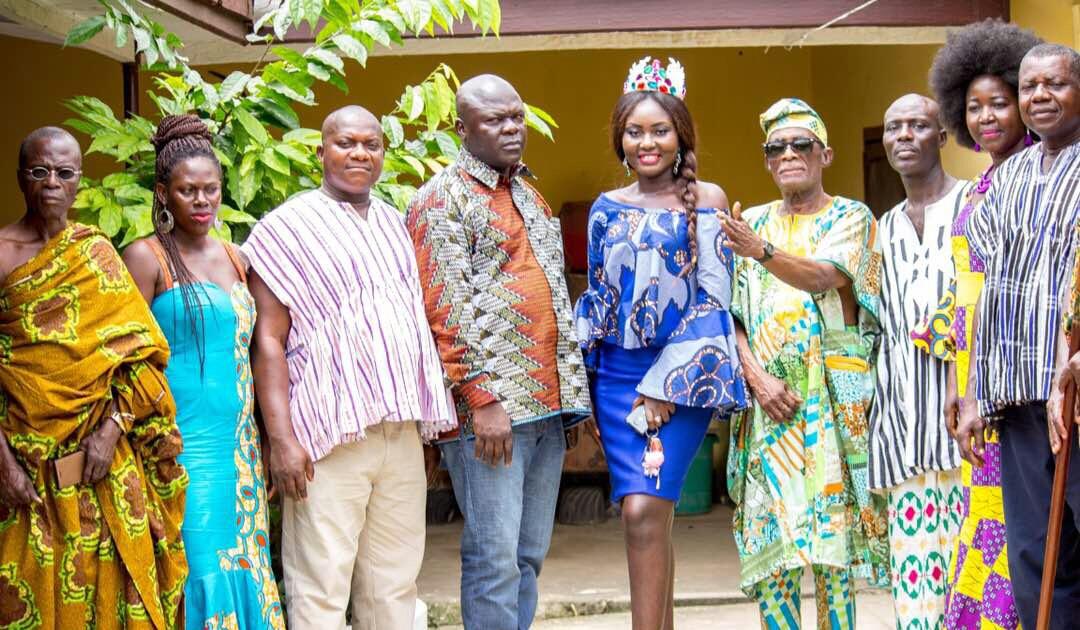 Miss Commonwealth Ghana Princess Duncan visits Swedru and Cape Coast Chiefs