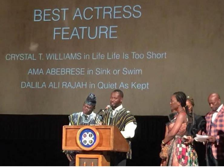 Ama K. Abebrese wins best actress at Newark International Film Festival