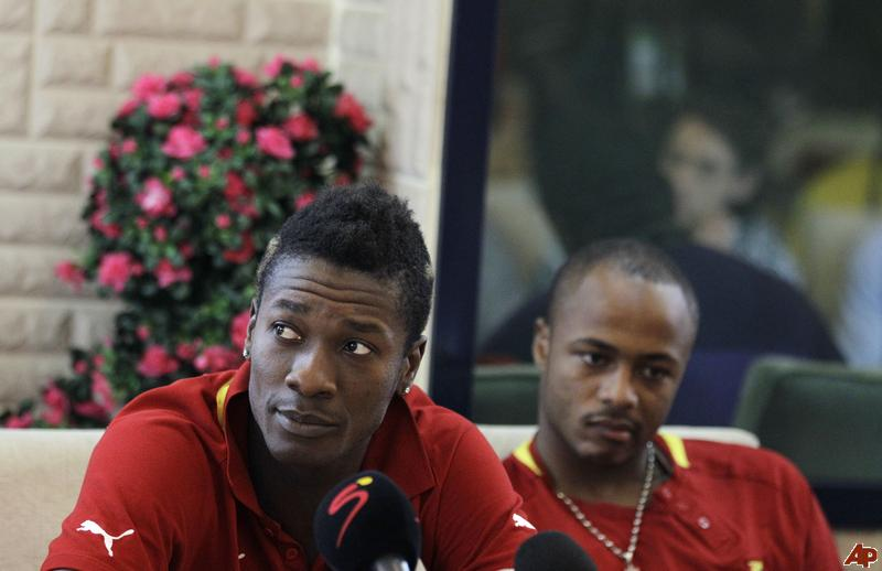 Ghana To Face Congo Without Captains Asamoah Gyan and Andre Ayew