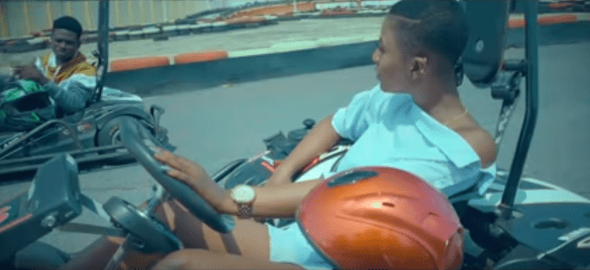 Kuami Eugene takes Ahoufe Patri on a ride in 'Angela' music video