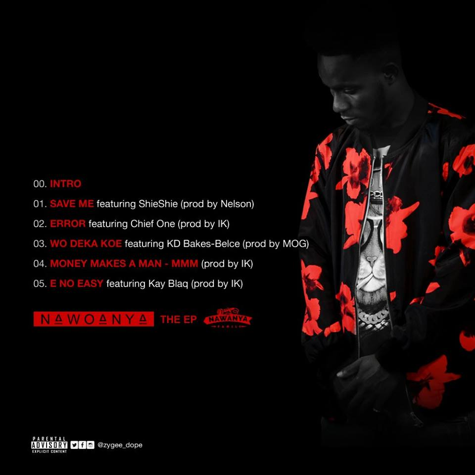 """Zygee unveils Track-List for his upcoming EP """"Nawoanya"""""""