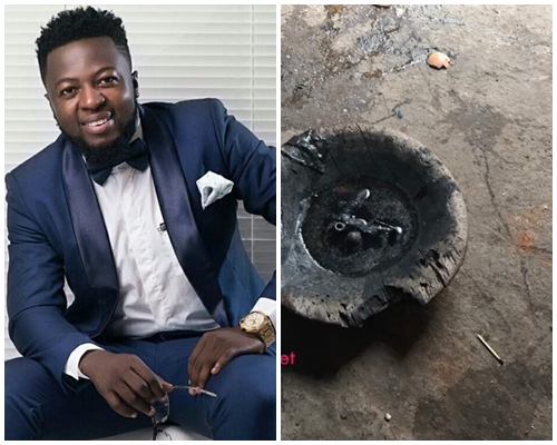 Photos of metals removed from Guru's throat after food poisoning
