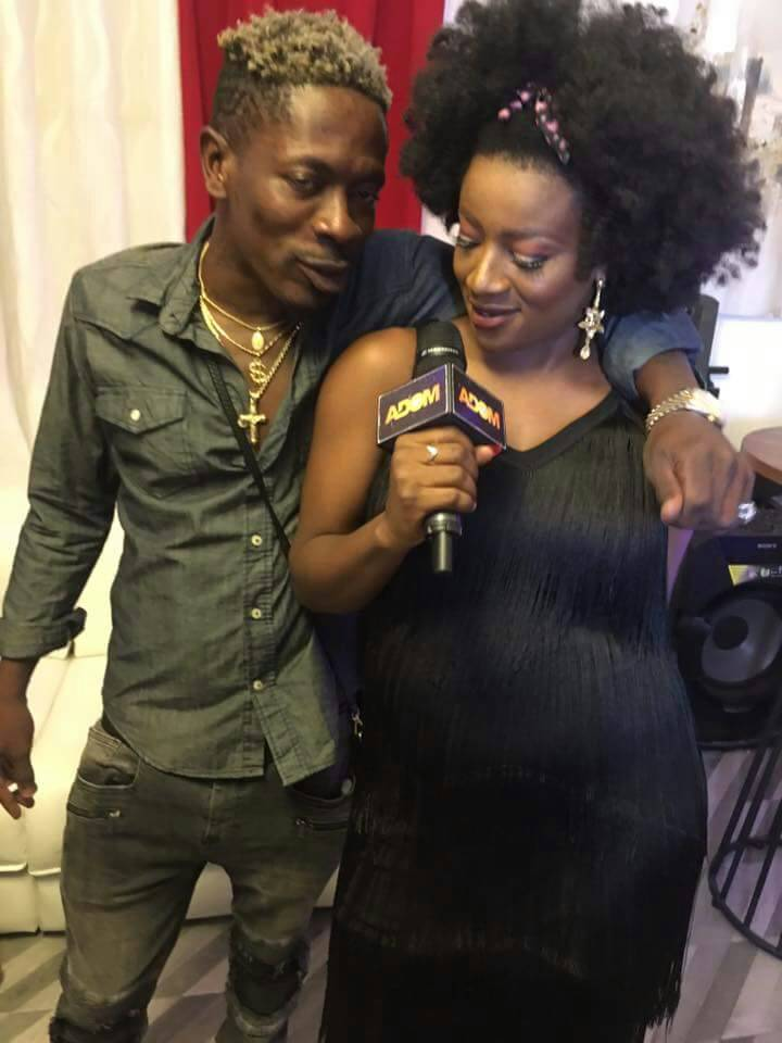 Pregnant Presenter Poses With Shatta Wale