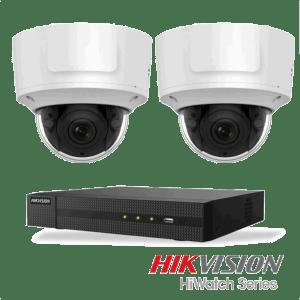 Netcam Hikvision pakke med 2 kameraer IP 8 megapixel motorisert zoom & opptaker
