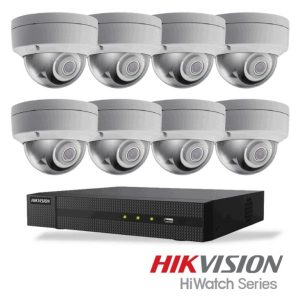Netcam Hikvision pakke med 8 kameraer IP 4 megapixel & opptaker