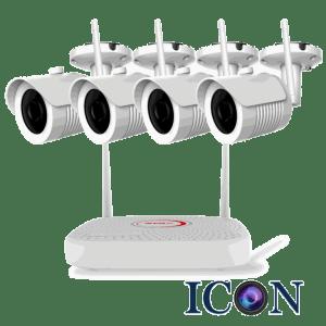 Netcam trådløs Wi-Fi 2MP pakke 4 kameraer og opptaker 1TB