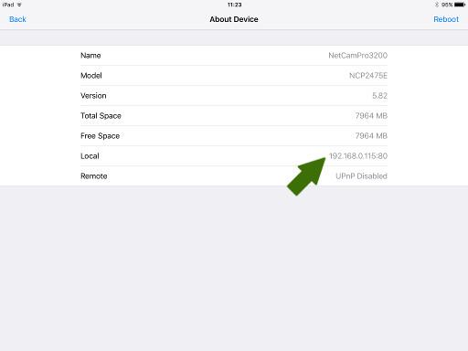 NetCamPro Find Your IP iPad