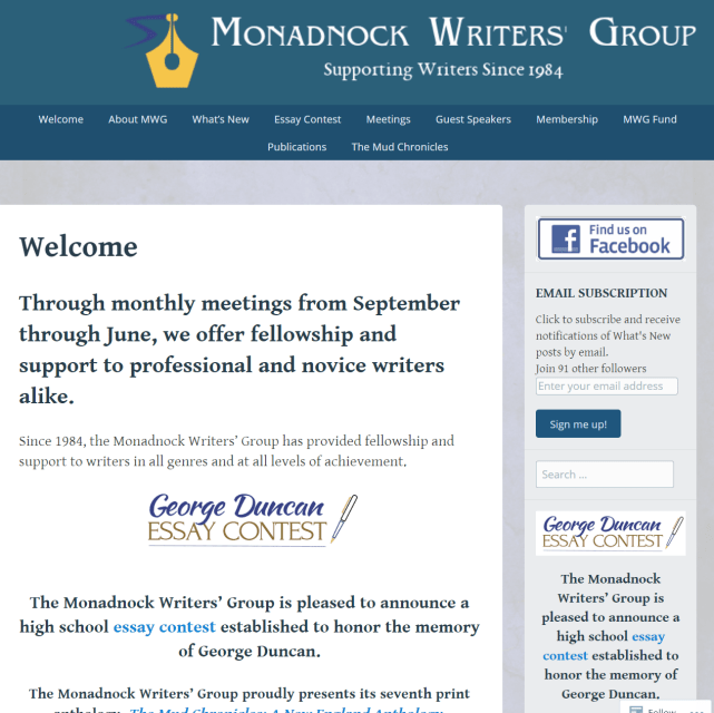 Monadnock Writers Group