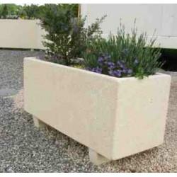 jardiniere rectangulaire en beton modele akhenaton