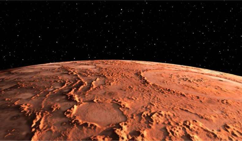 Ilustración de Marte