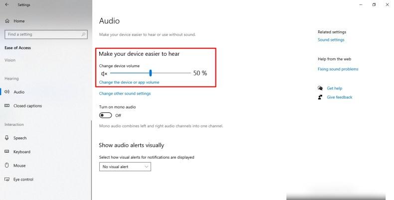 Captura de pantalla de la función de captura de pantalla del Narrador en Windows 10
