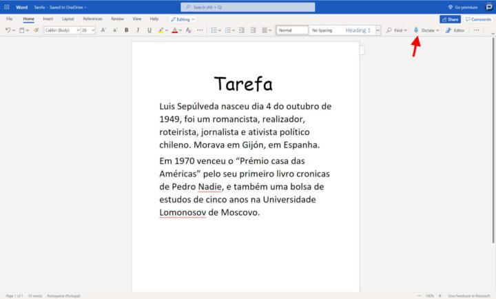 escribir textos palabra microsoft micrófono