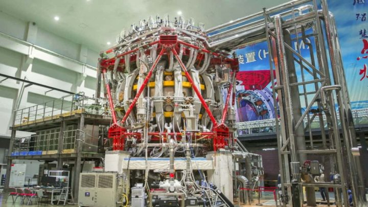 Imagen experimental avanzada del tokamak superconductor