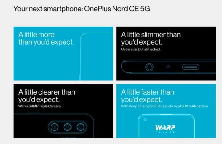 Teléfono inteligente OnePlus Nord CE 5G
