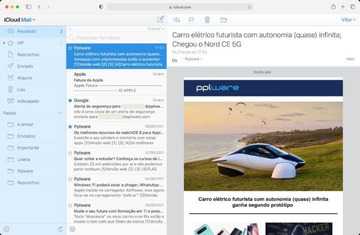 Imagen de Apple Mail a través de la web