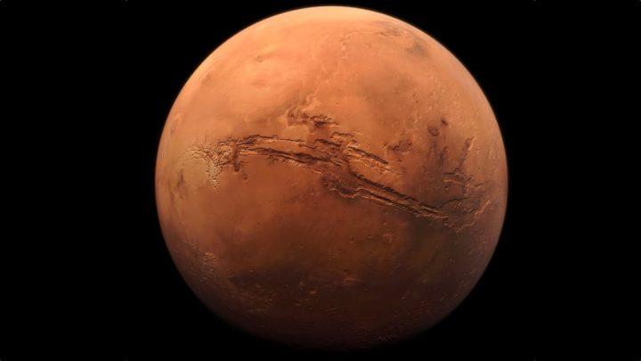 Imagen de Marte con tono rojo