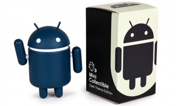 Figura de acción de Android modo oscuro