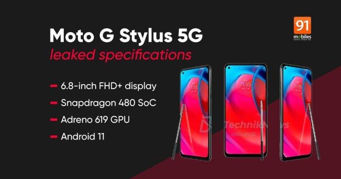Motorola Moto G Stylus 5G, fuga