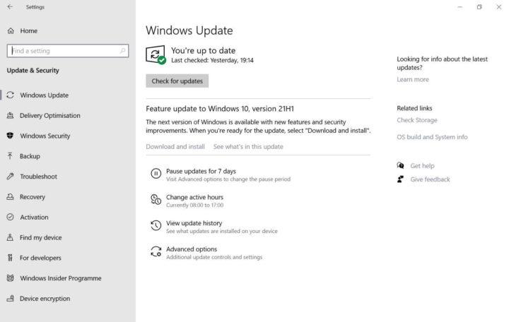 Problemas de actualización de Microsoft Windows 10