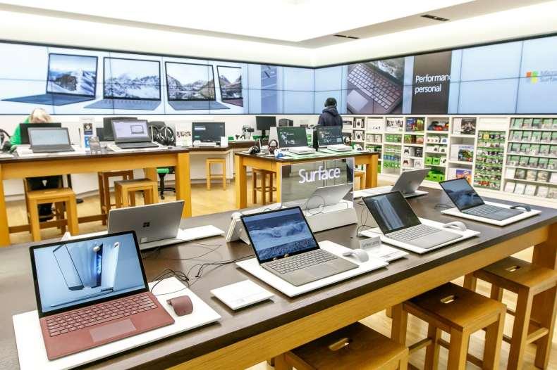Microsoft se está recuperando lentamente en el comercio minorista