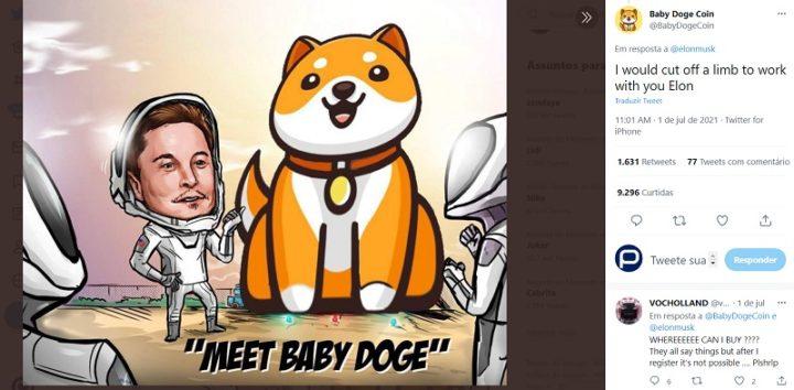 1625273645 889 BabyDoge la criptomoneda derivada de Dogecoin ha aumentado en 100